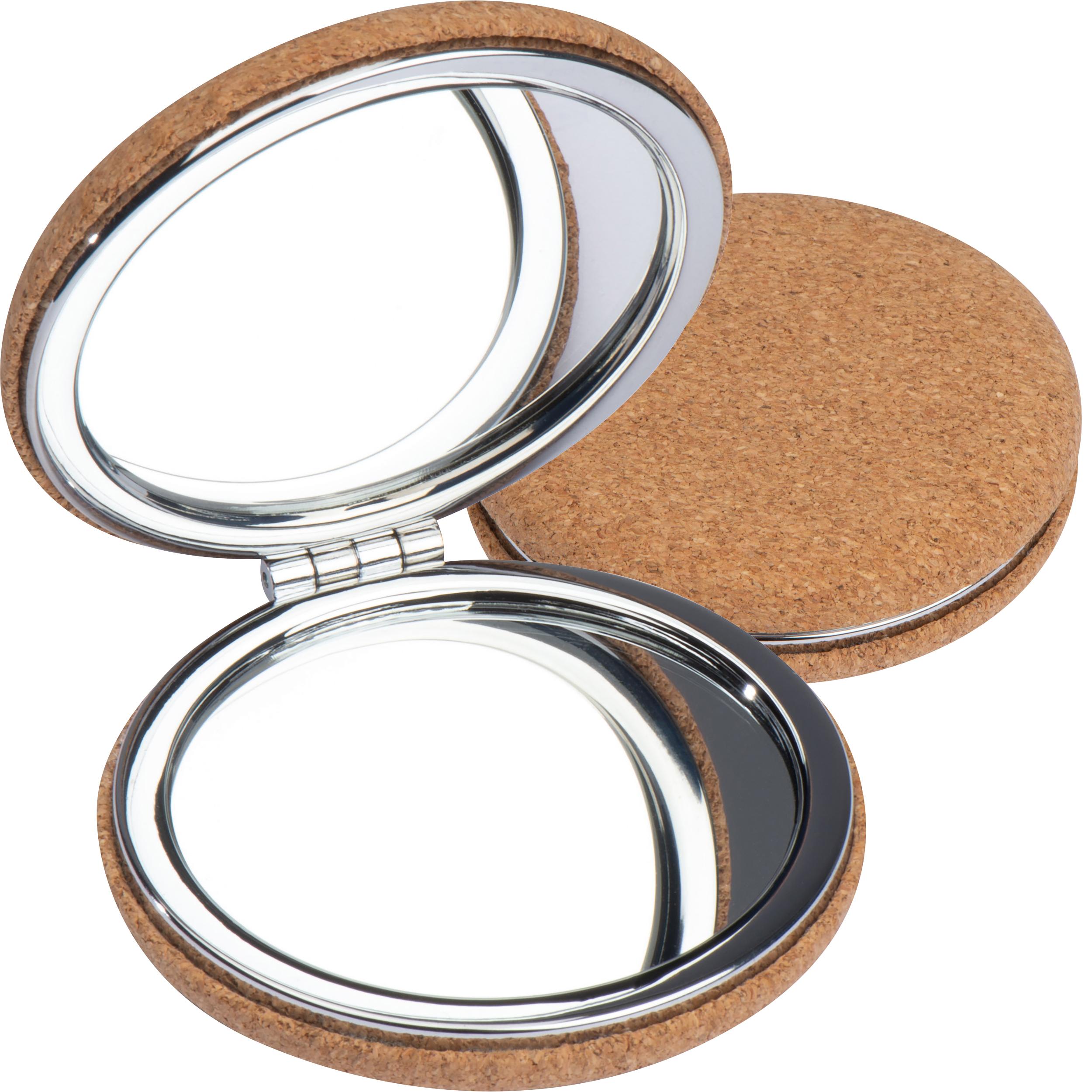 Miroir de maquillage avec revêtement en liège