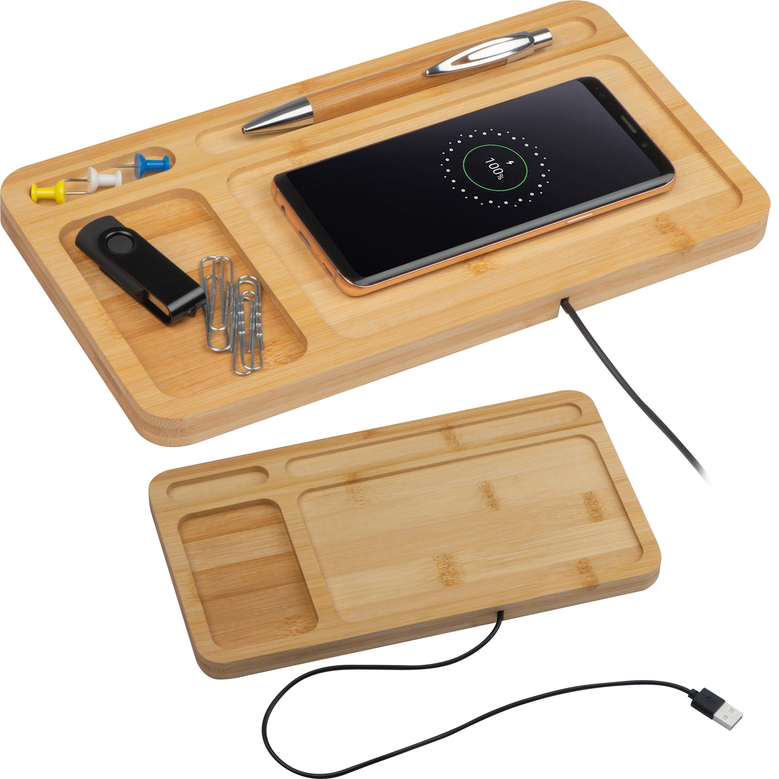 Wireless charging desk pad