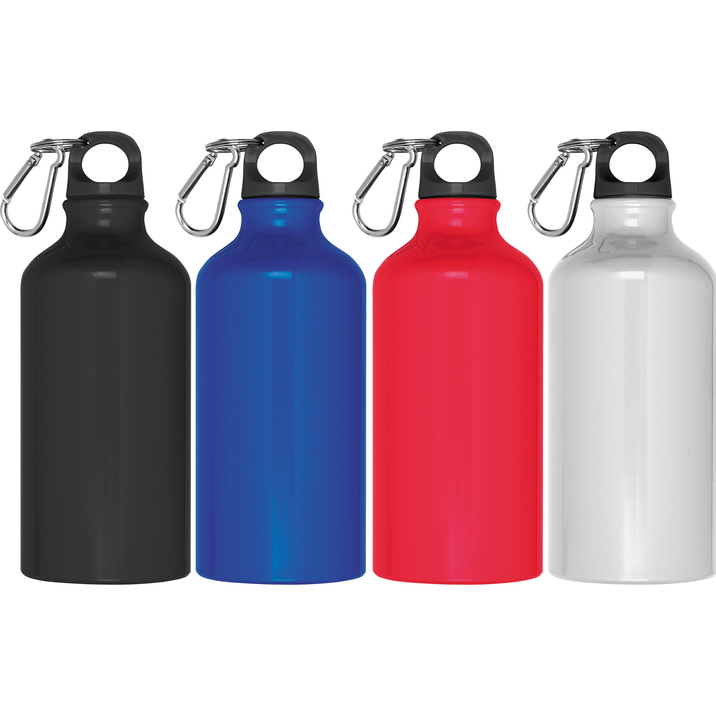 Trinkflasche aus Aluminium mit Karabinerhaken, 500 ml