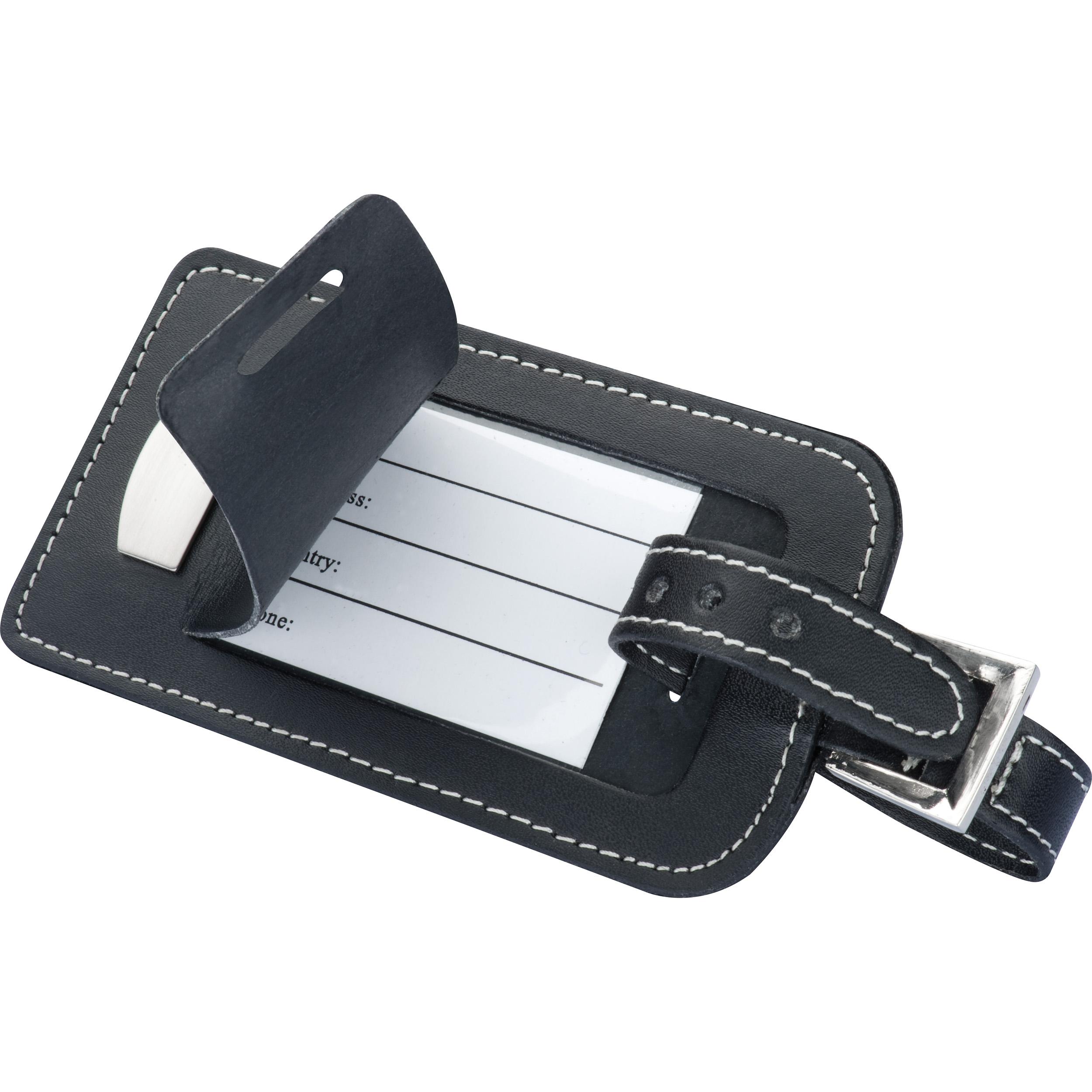 CrisMa bonded-leather luggage tag
