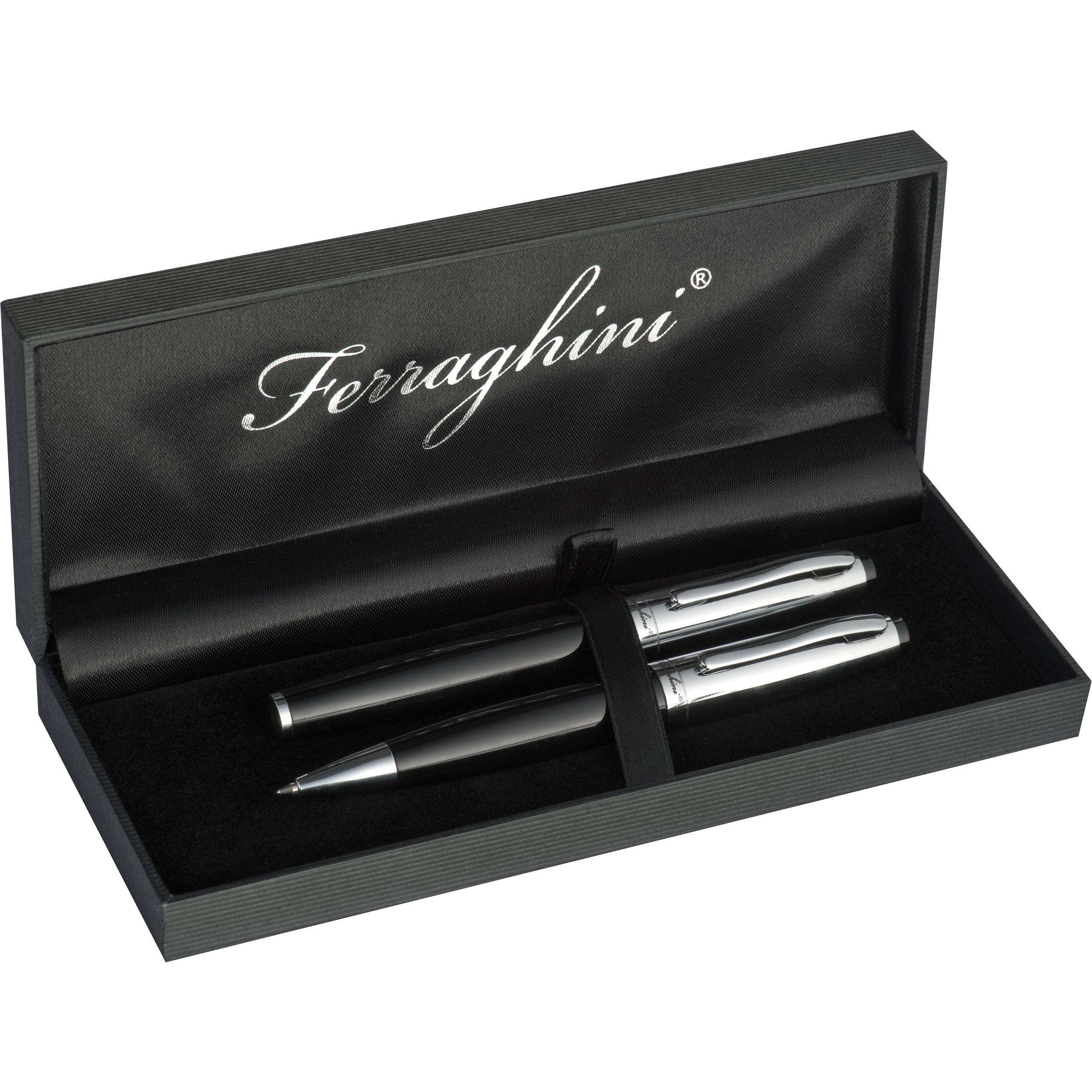 Ferraghini writing set with a ball pen and a rollerball pen