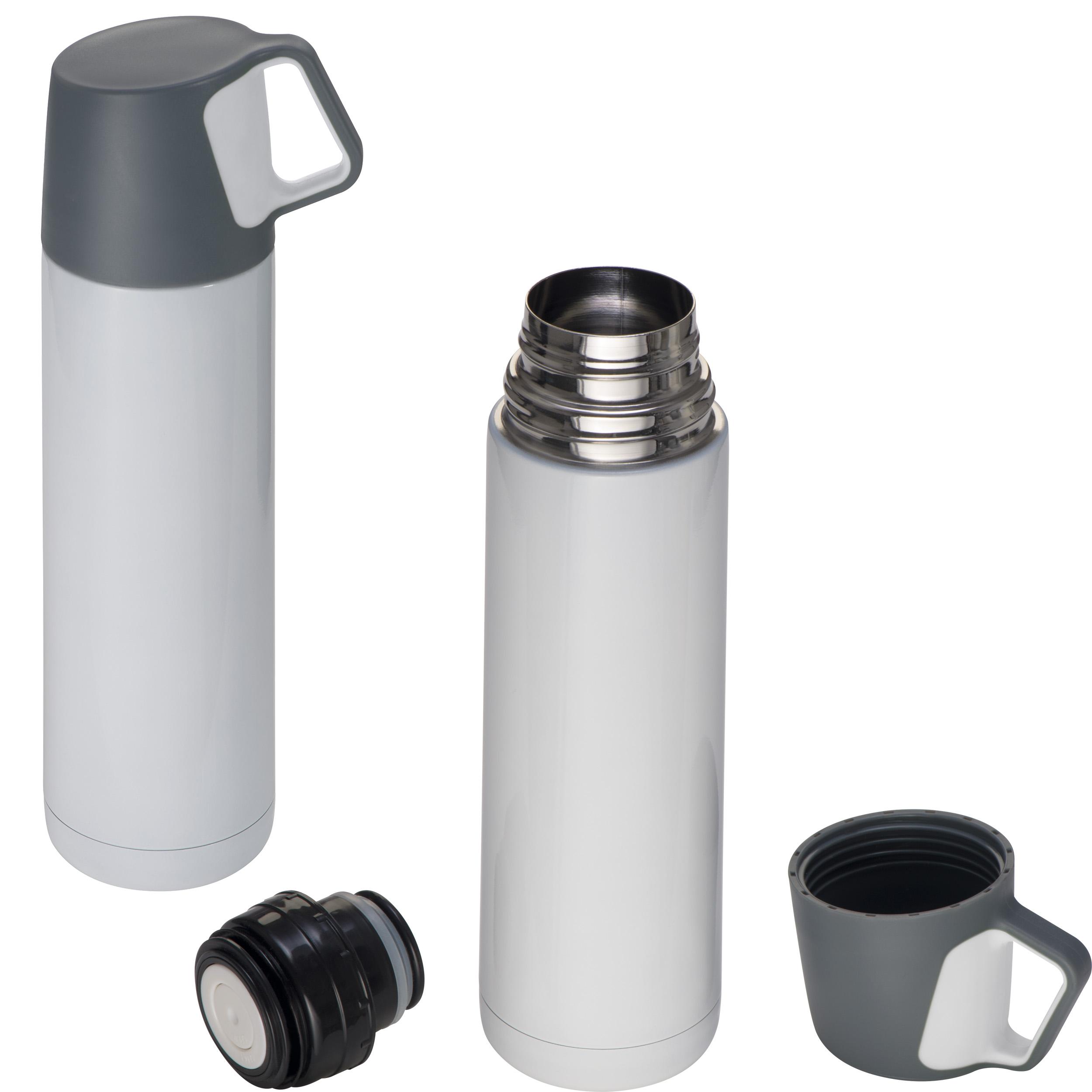 Edelstahl-Vakuum-Isolierkanne mit Trinkbecher, 500 ml