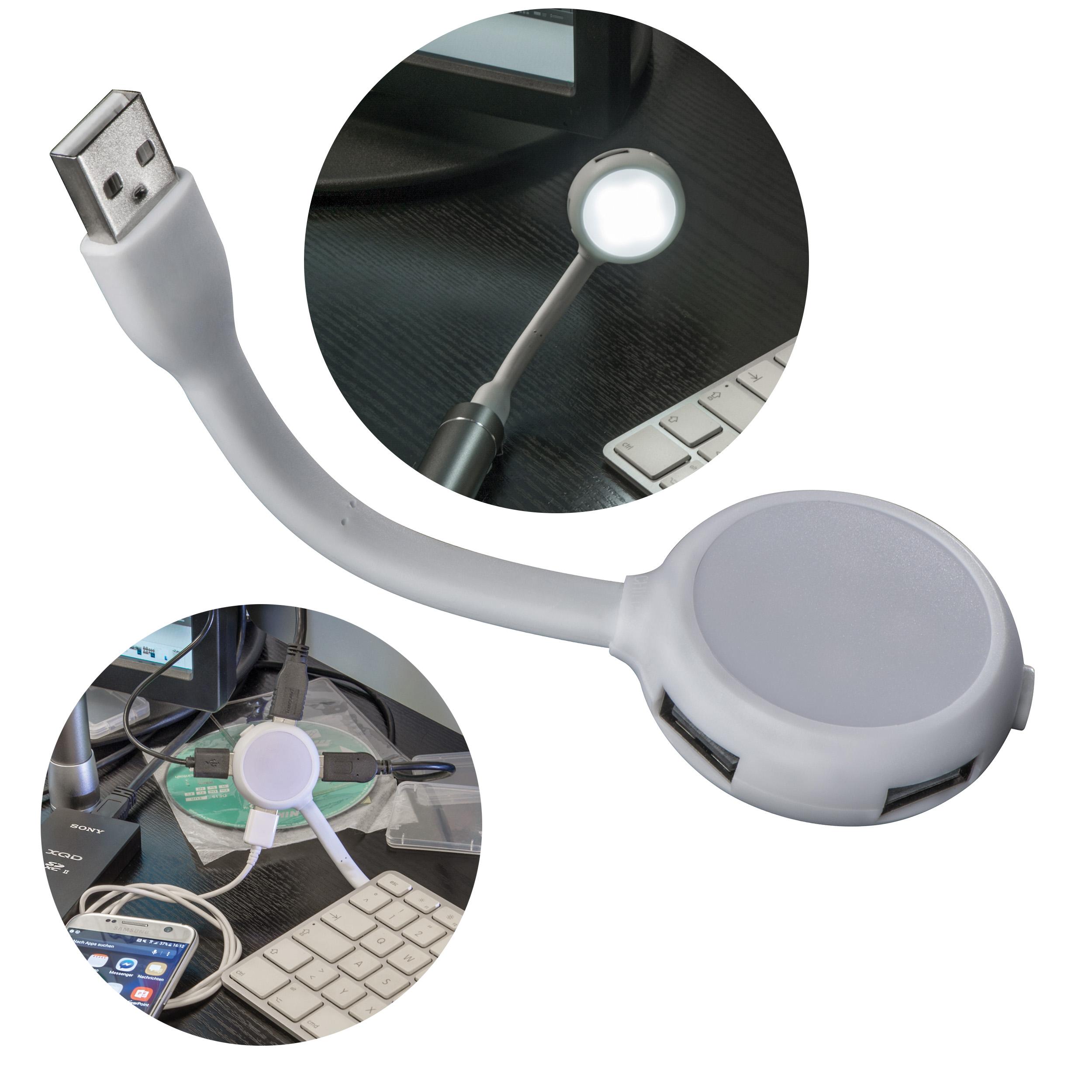 USB-Hubmit 4 Anschlüssen und Licht