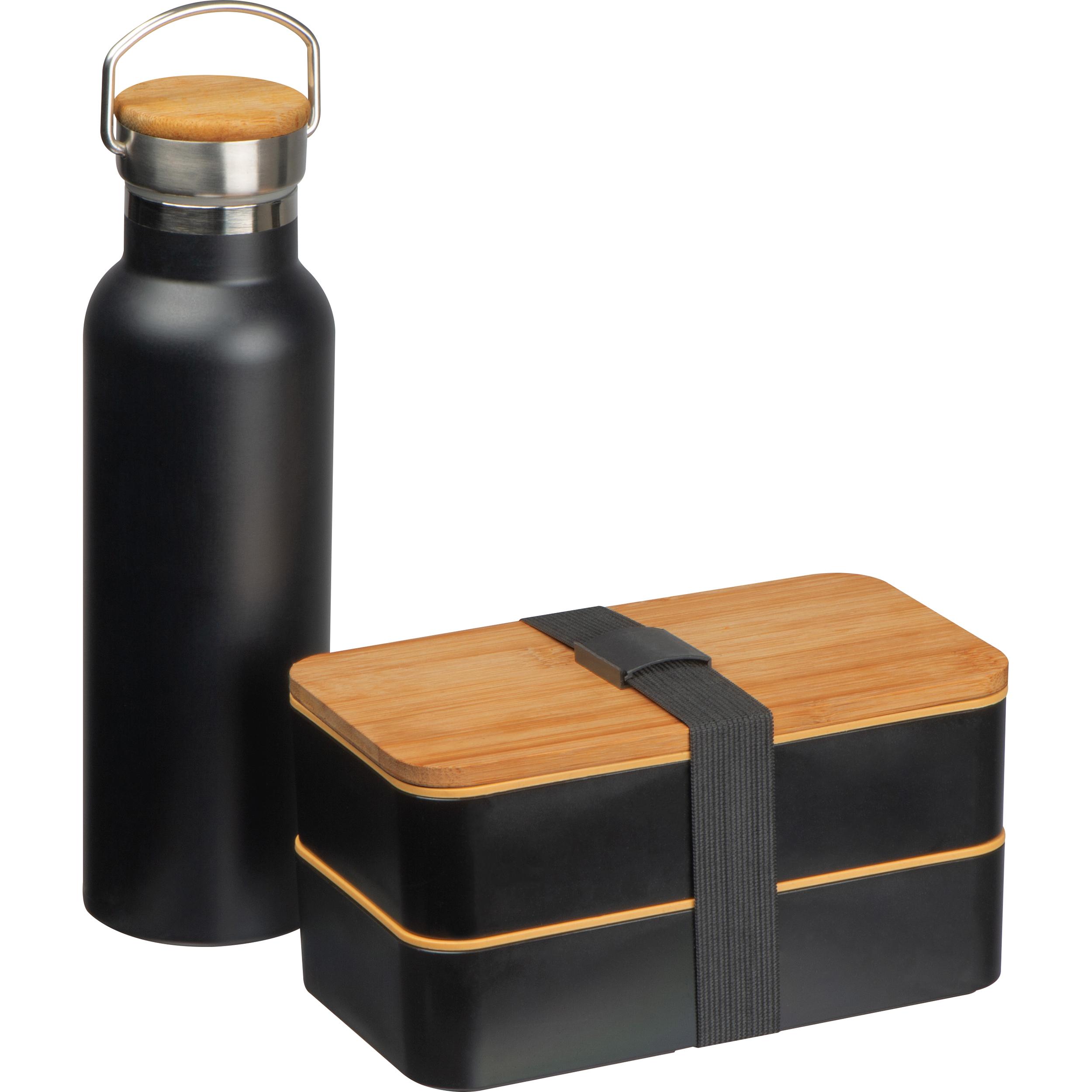 Ensemble de la boîte à lunch et de la bouteille d'eau