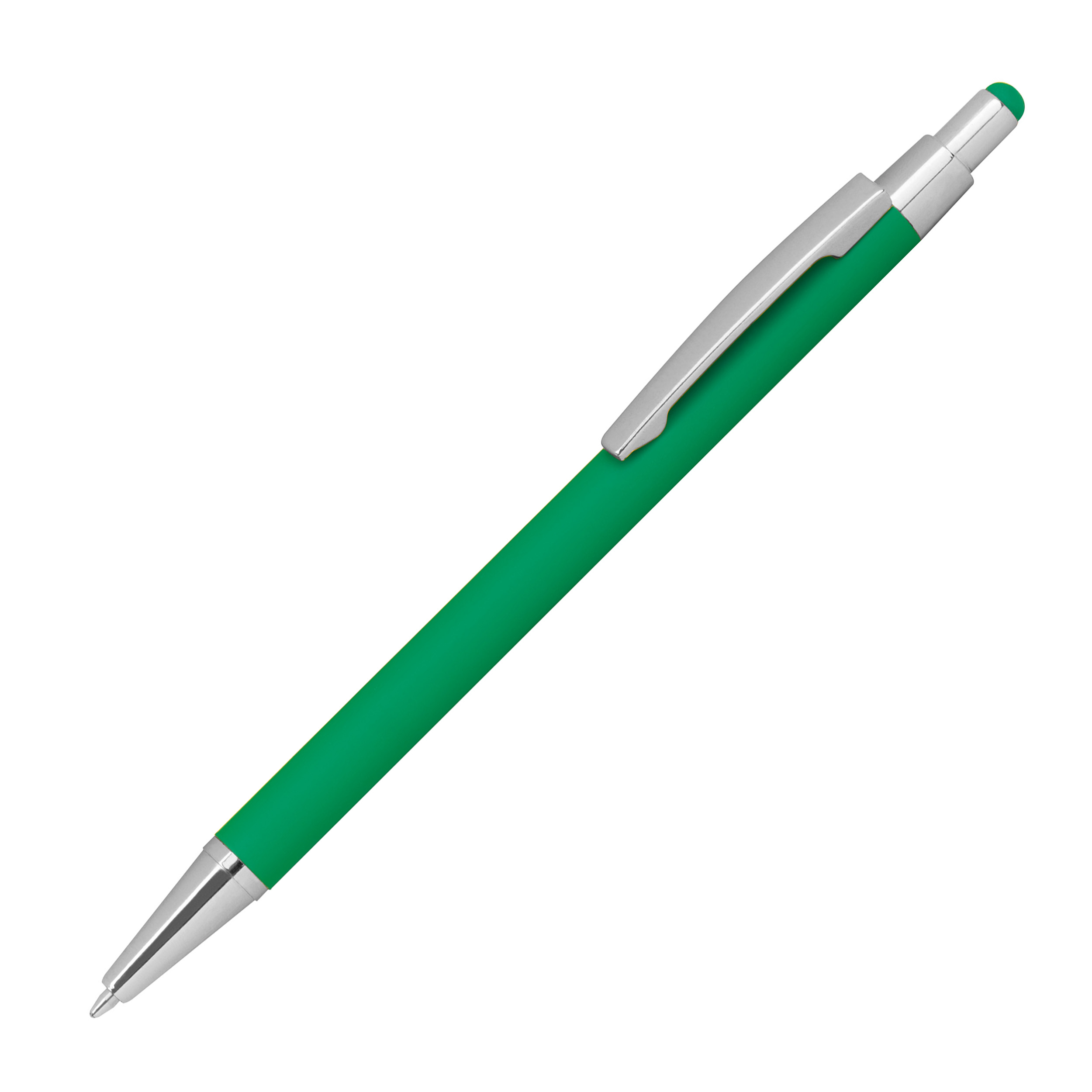 Metal ballpen with rubber coating and touch function