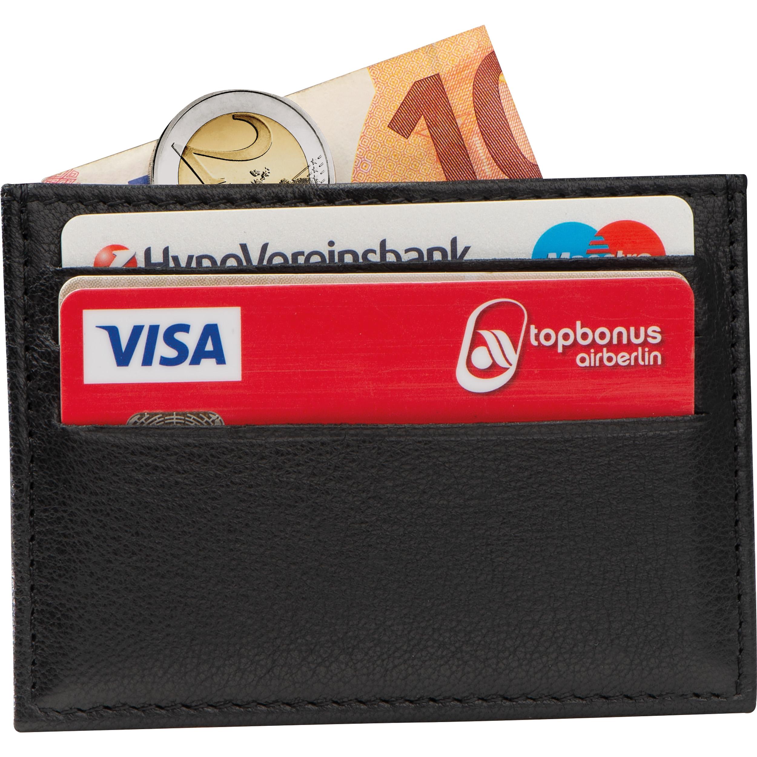 Etui en cuir pour cartes de crédit RFID