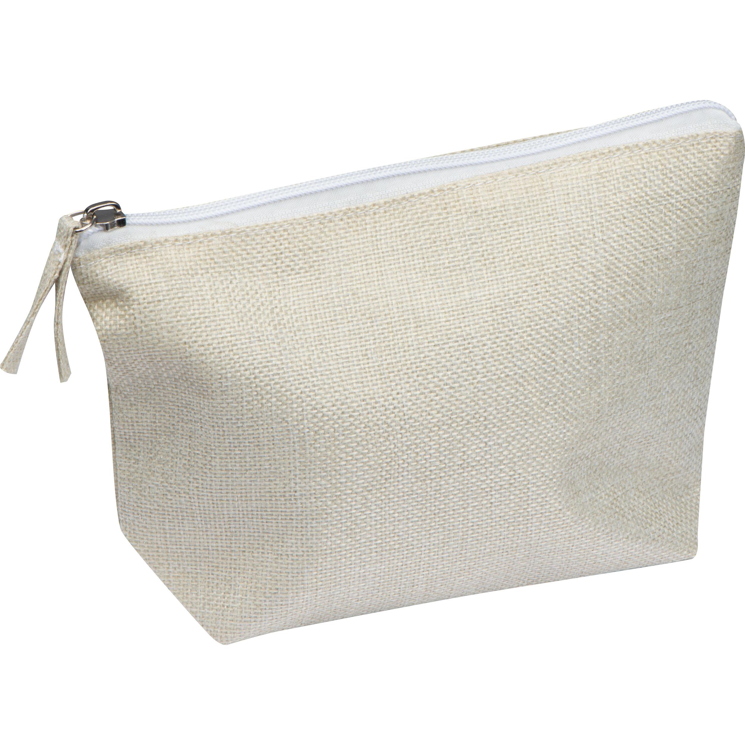 Sac à cosmétiques en polyester, adapté à l'impression par sublimation