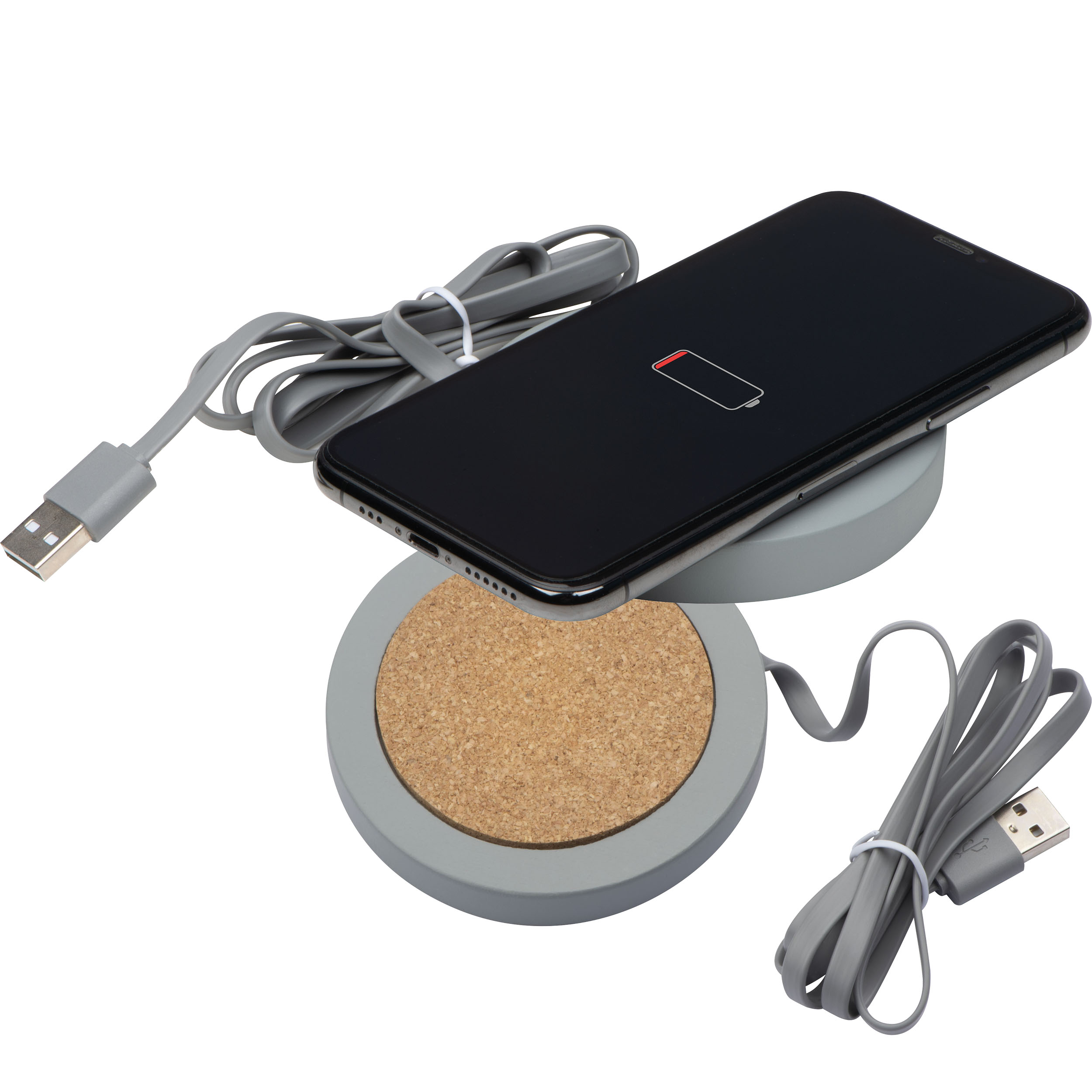 Wireless charger aus Limestone cement