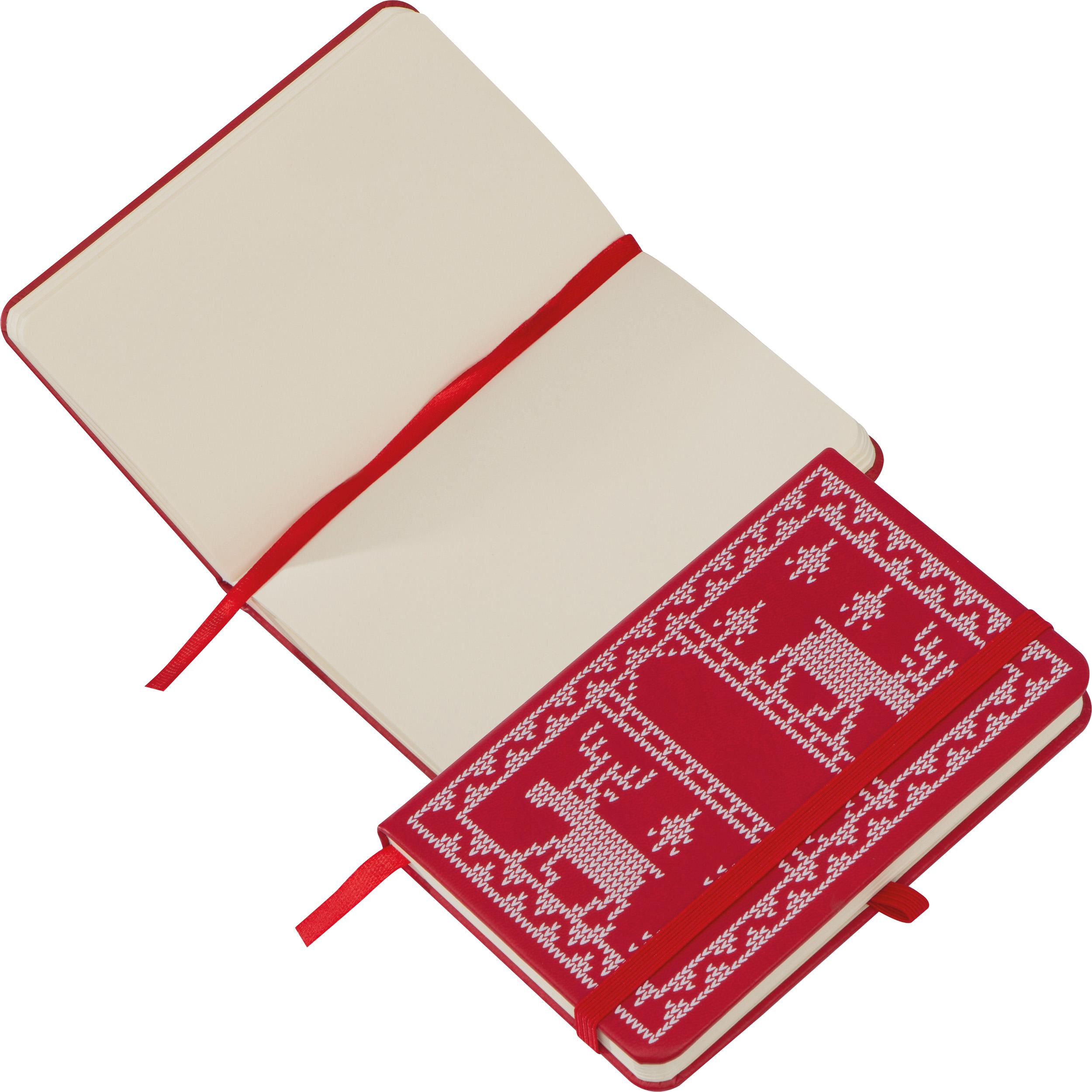 A6 Notizbuch mit PU Weihnachtsmotiv-Umschlag
