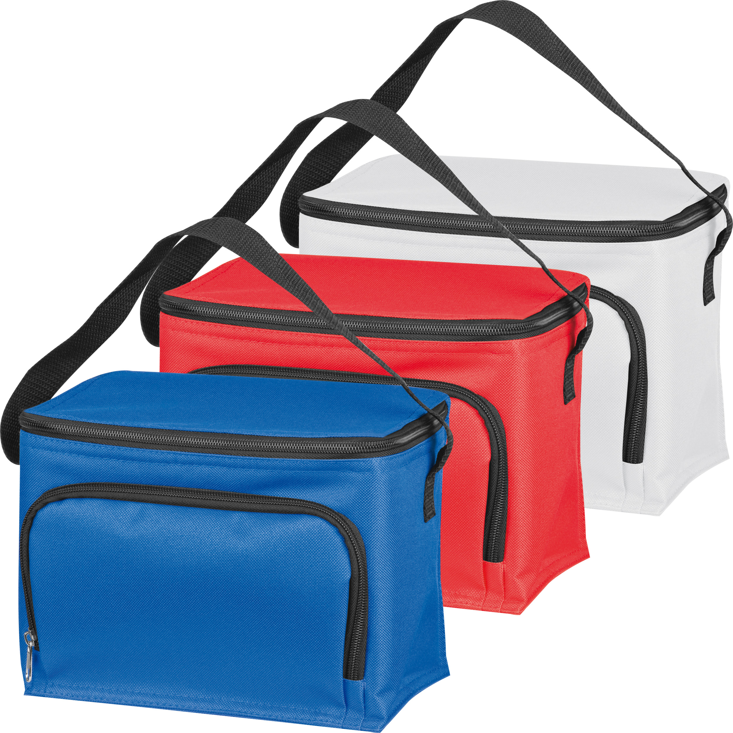 210D polyester cooler bag with front compartment