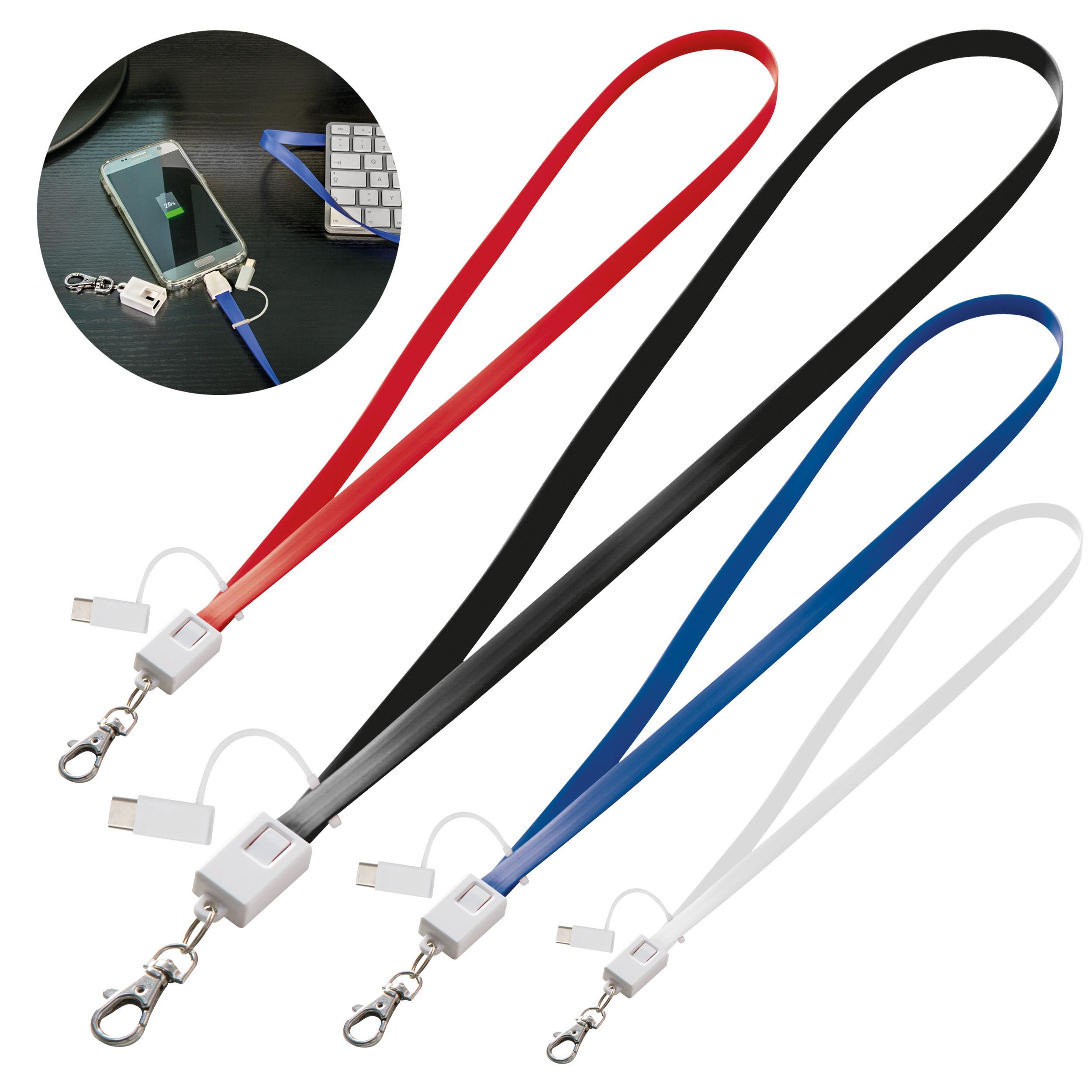 Câble de recharge avec 4 connecteurs
