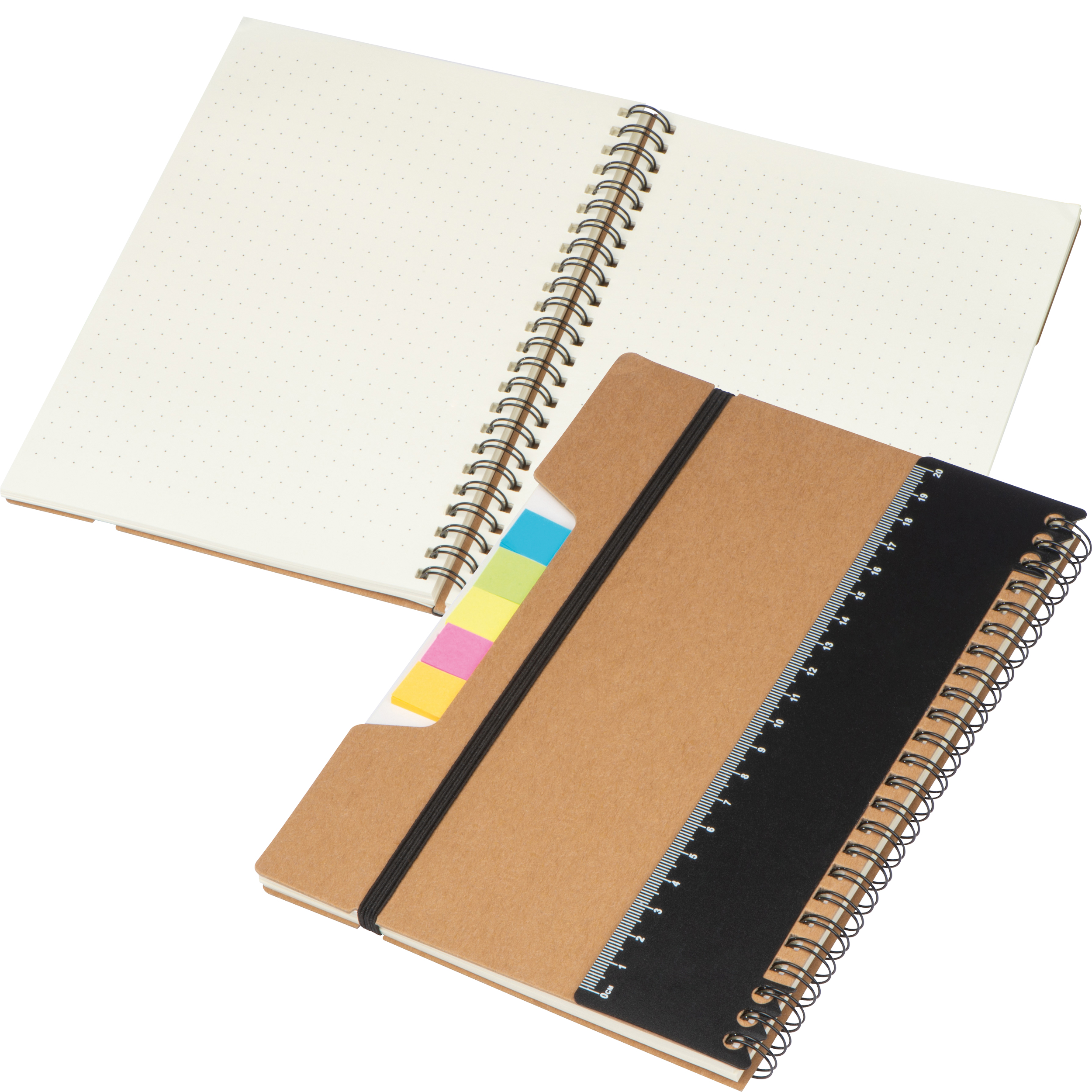 A5 Notebook with Ruler and sticky notes
