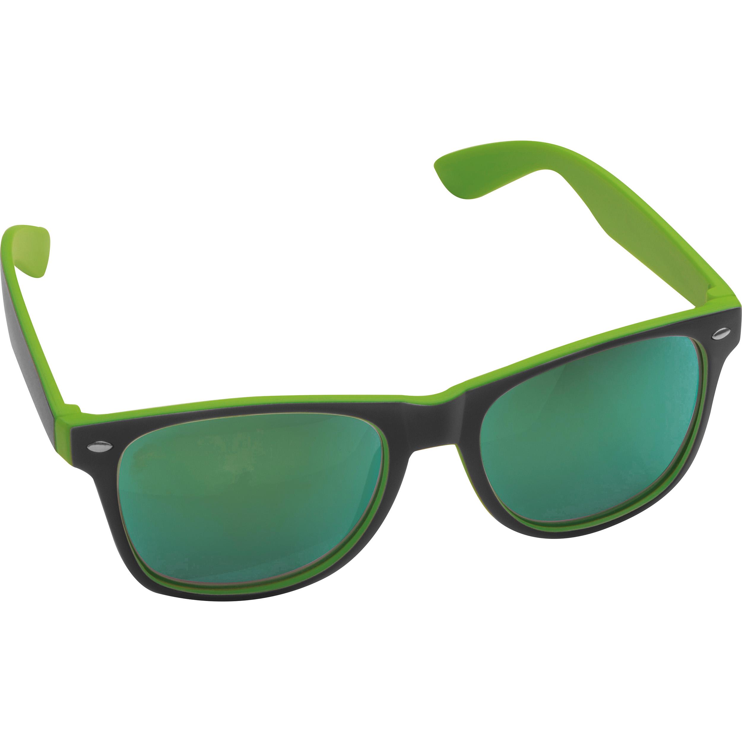 Bicoloured sunglasses with mirrored lenses