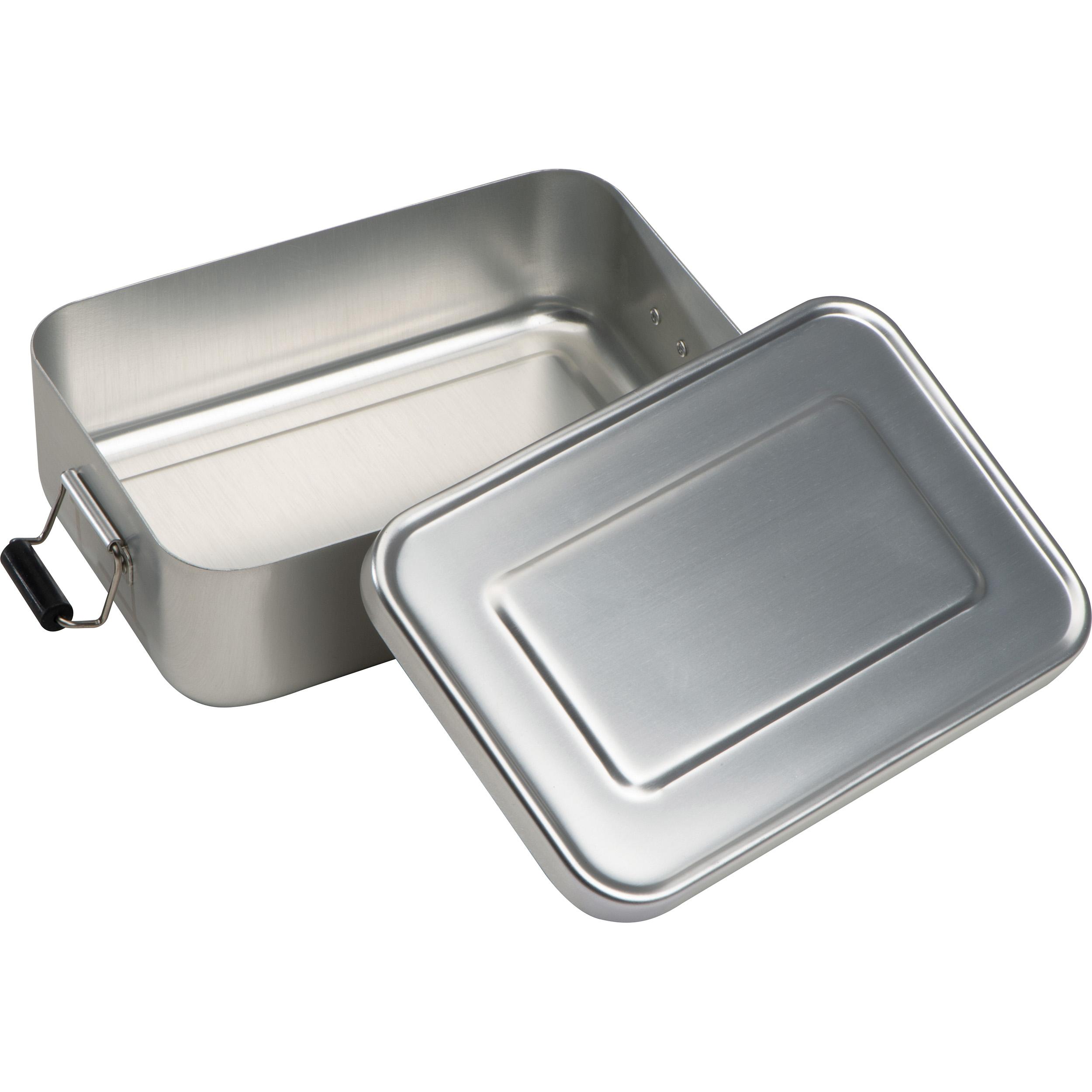 Brotzeitdose aus Aluminium zum Verschließen