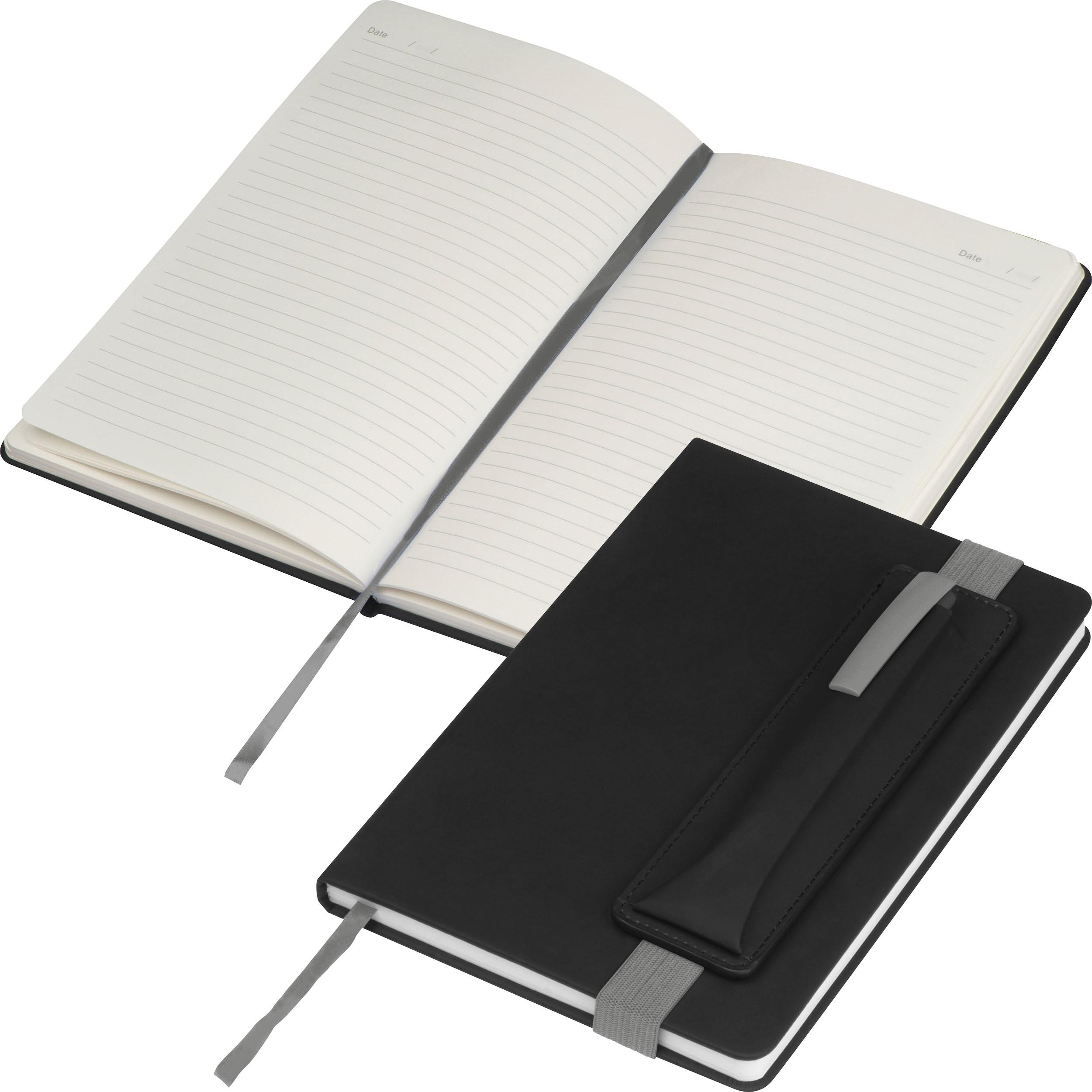 Notizbuch mit farbigen Applikationen