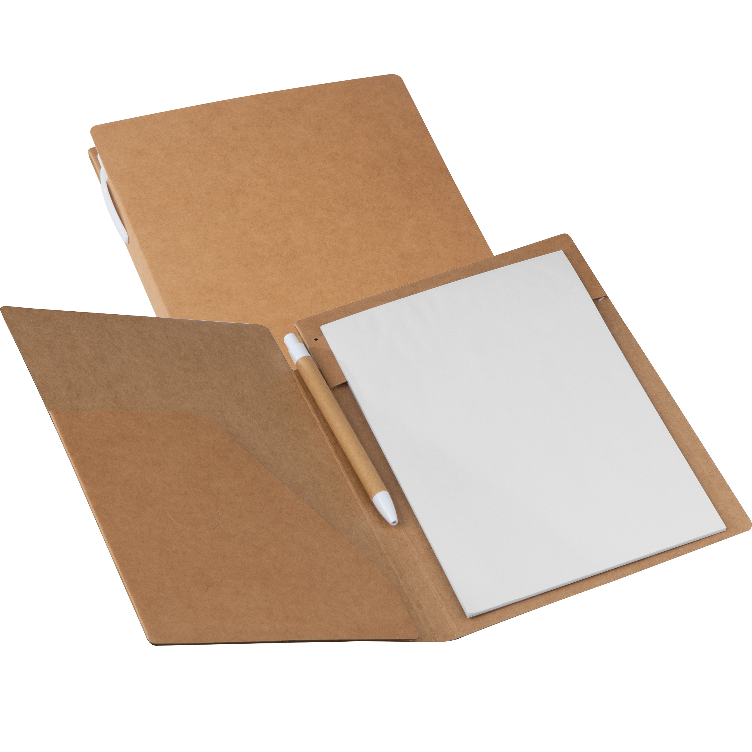 Cardboard writing case