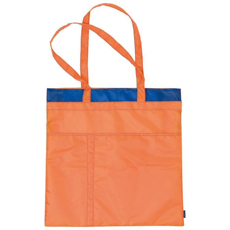 Einkaufstasche aus Polyester mit Ziernähten