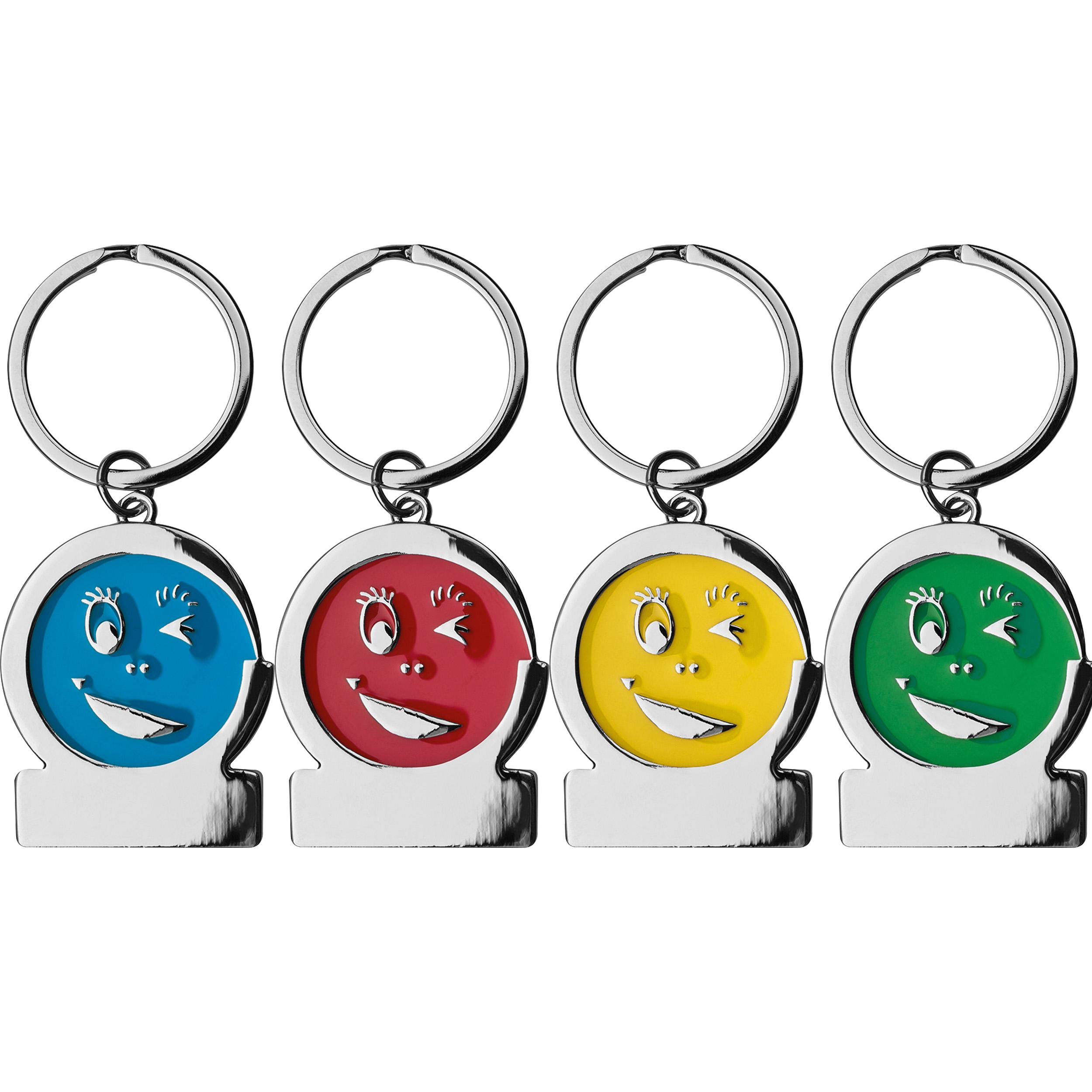 Schlüsselanhänger aus Metall Gesicht