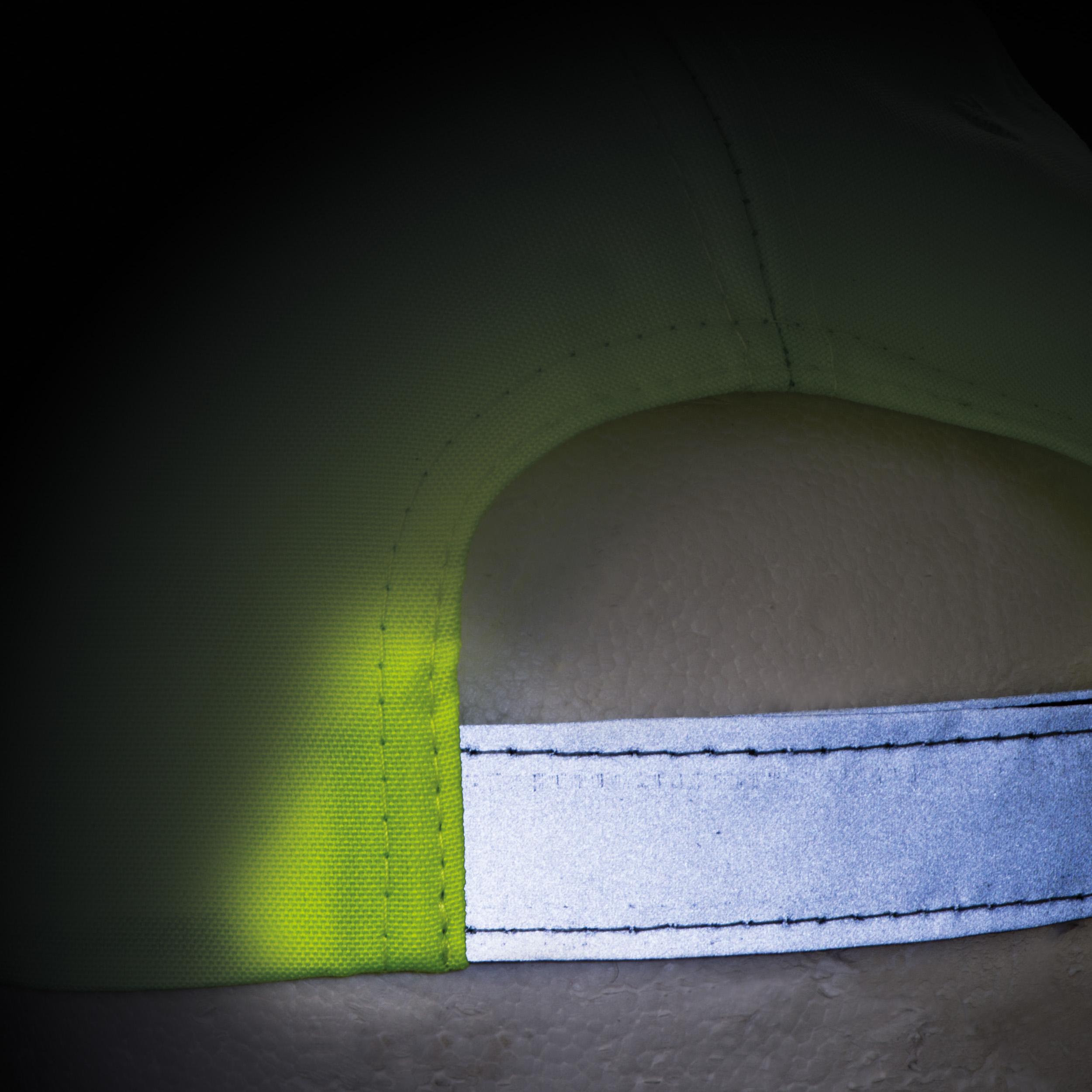 AZO-freie 6 Panel Baseballcap für Kinder aus Polyester mit reflektierender Borte