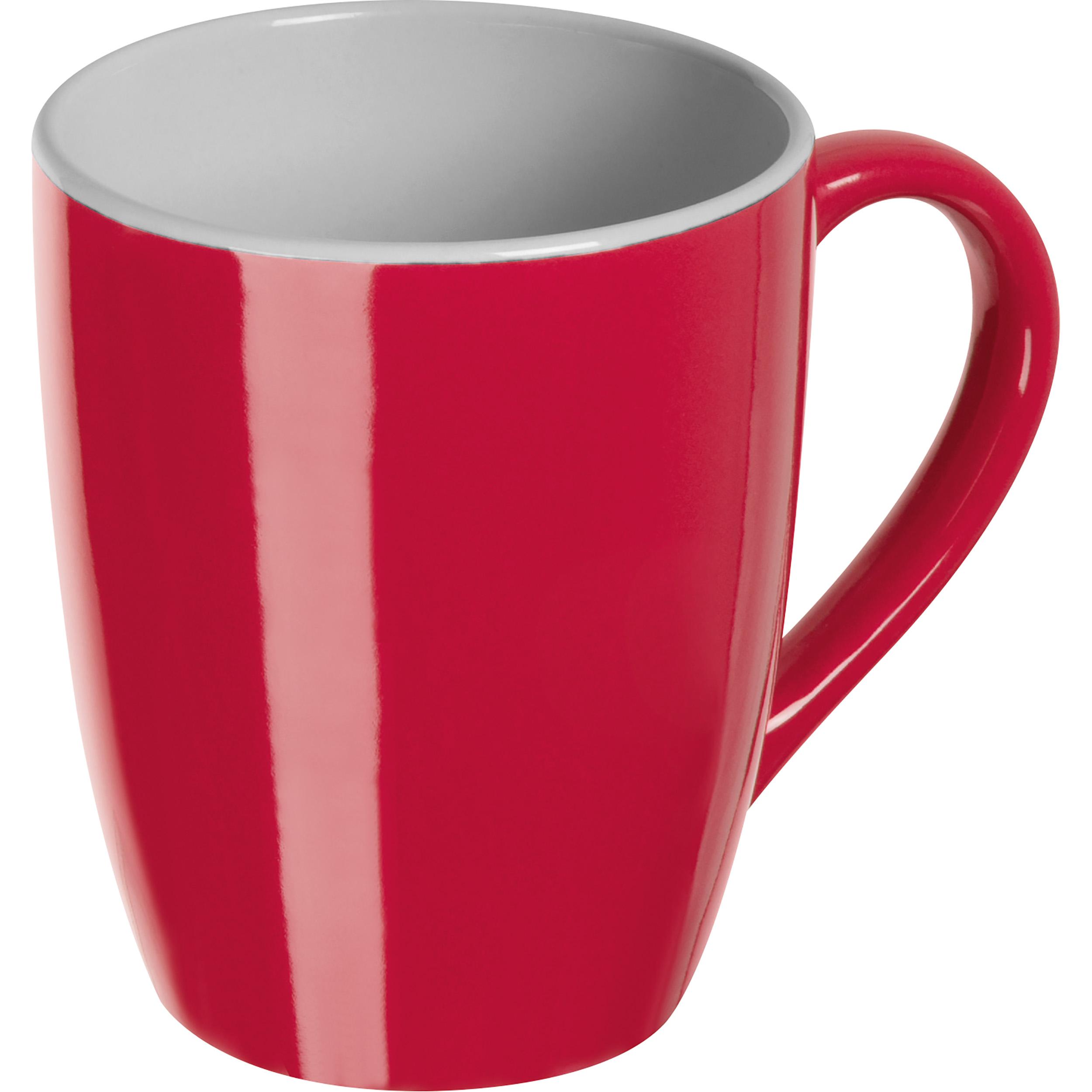 Colored ceramic cup