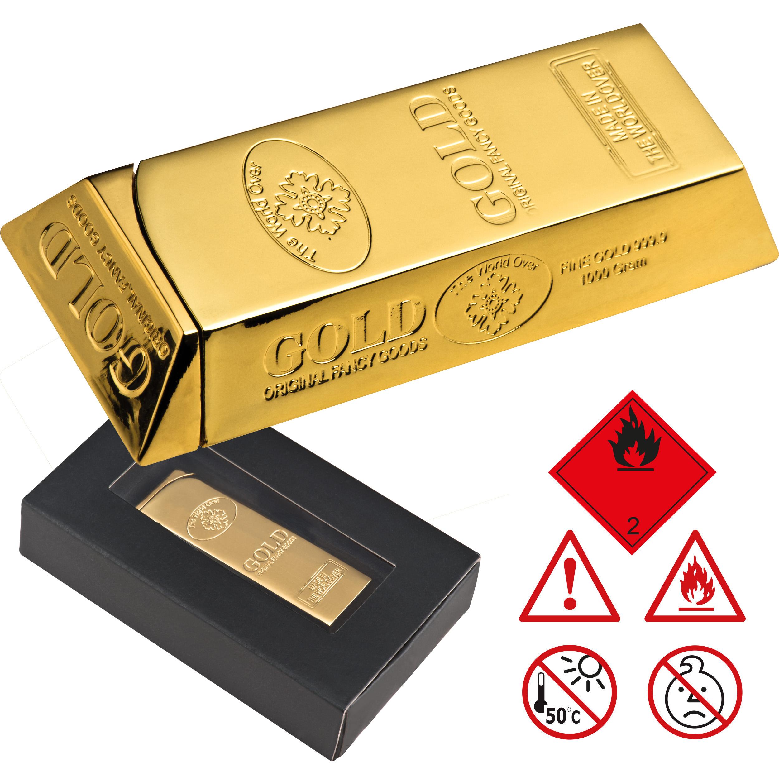 "Automatik Feuerzeug ""Goldbarren"""