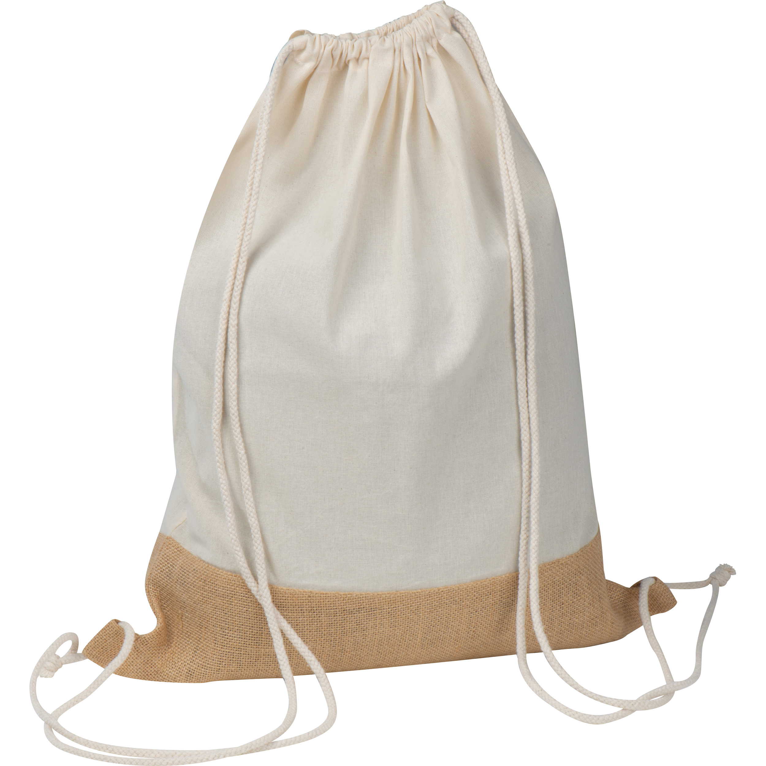 Gymbag avec fond en jute et cotton Oeko-Tex STANDARD 100