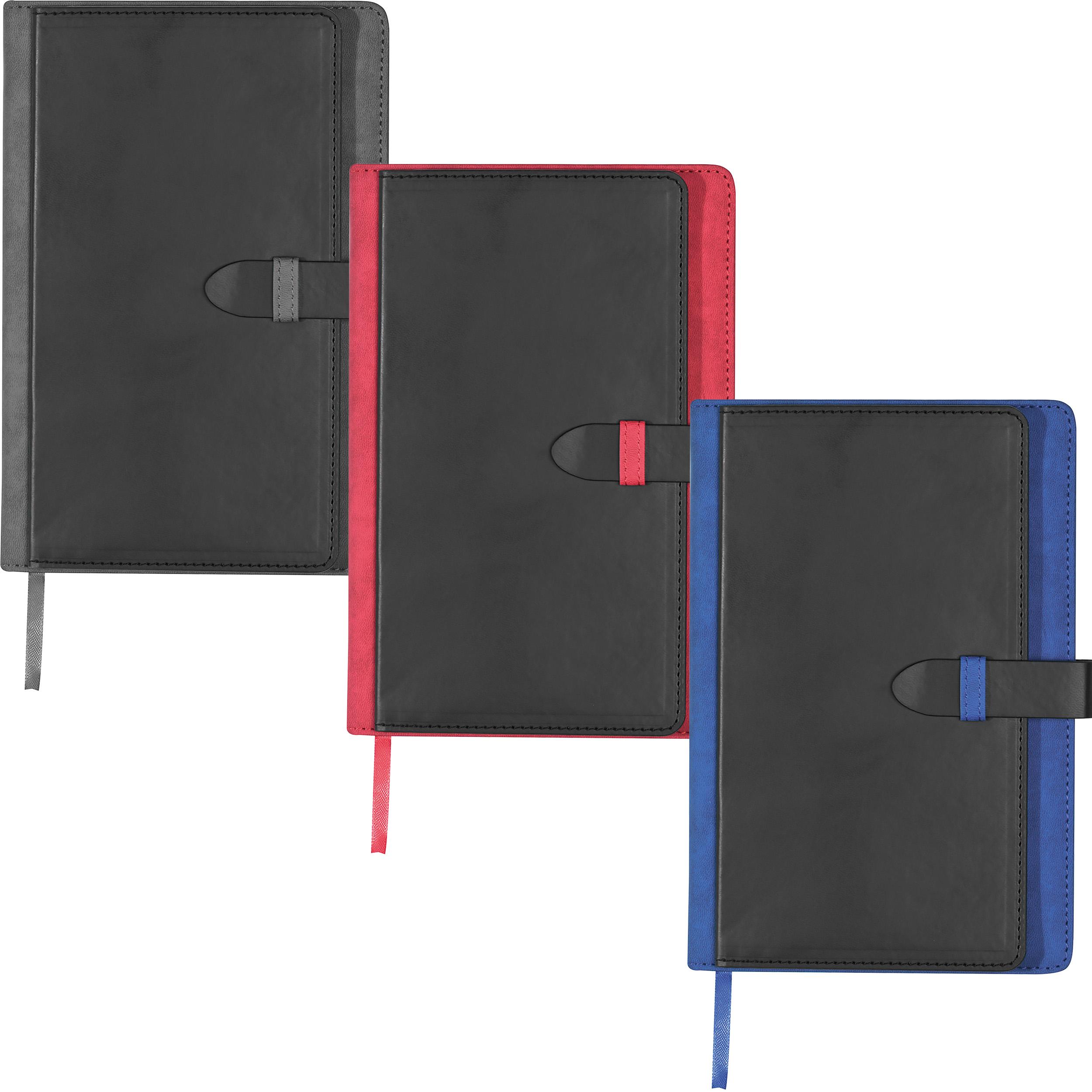 Carnet A5 avec fonction porte-cartes de visite