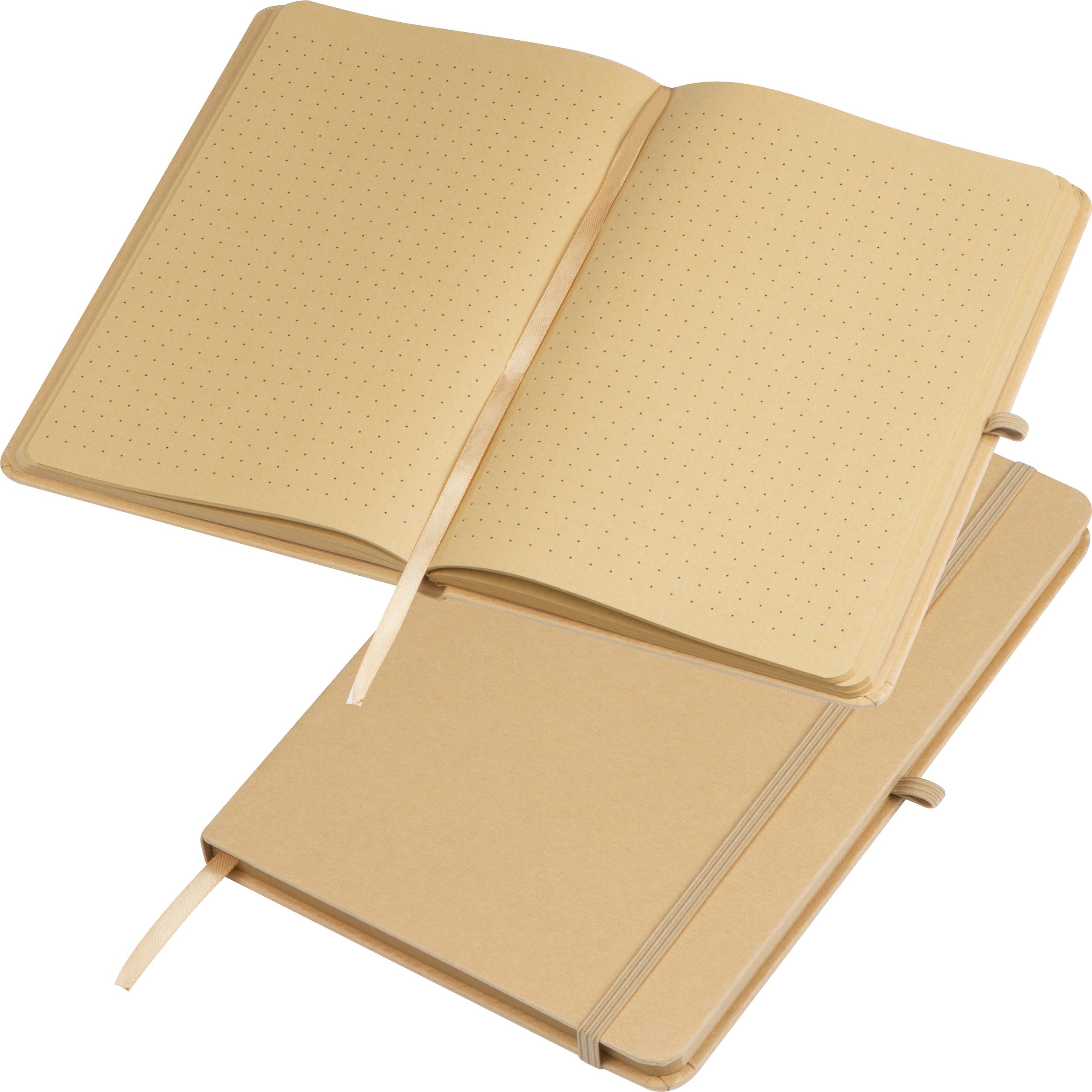 Carnet de notes A5 avec couverture en papier de bricolage, signet, bande élastique pour fermer et boucle à stylo