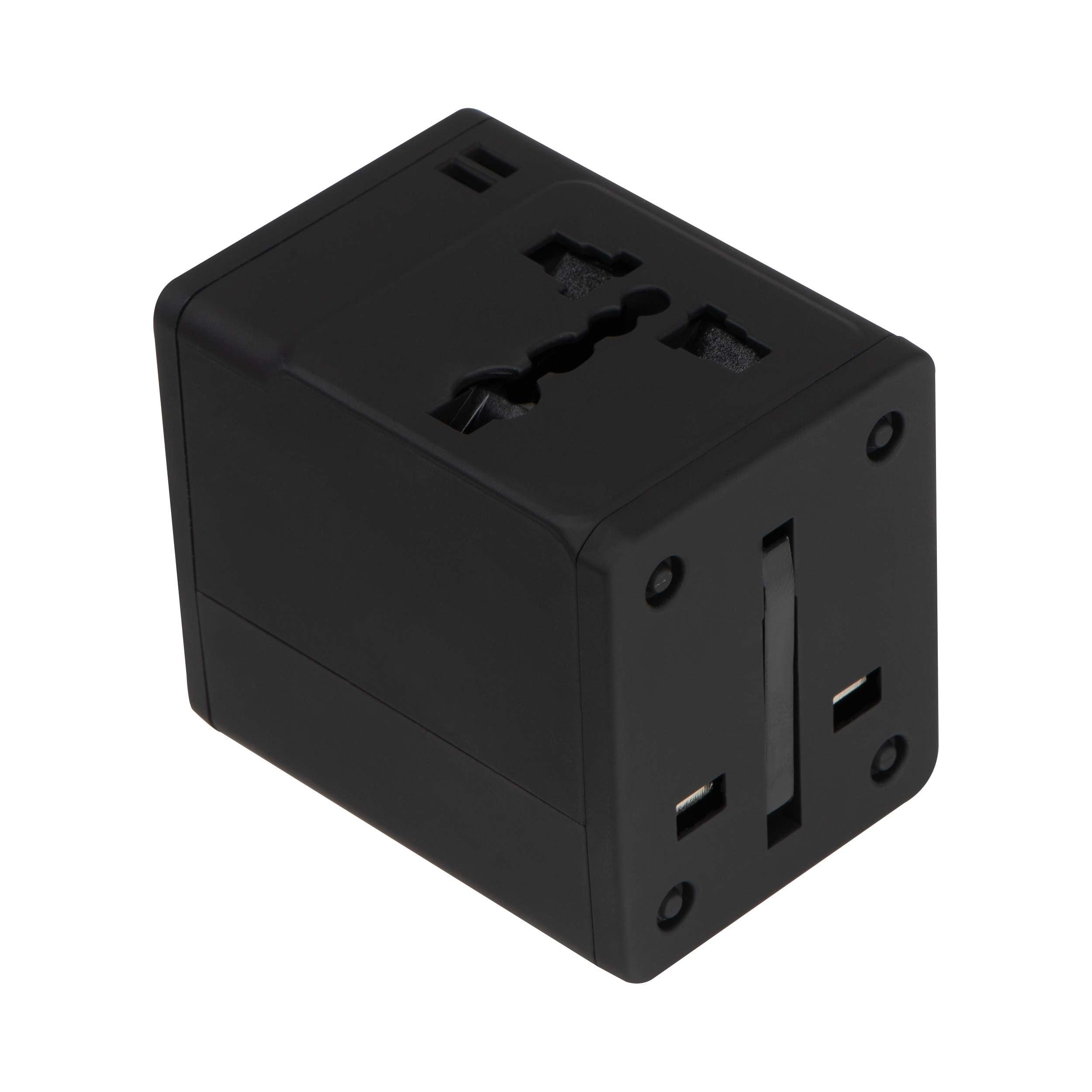 Rubberized travel adapter
