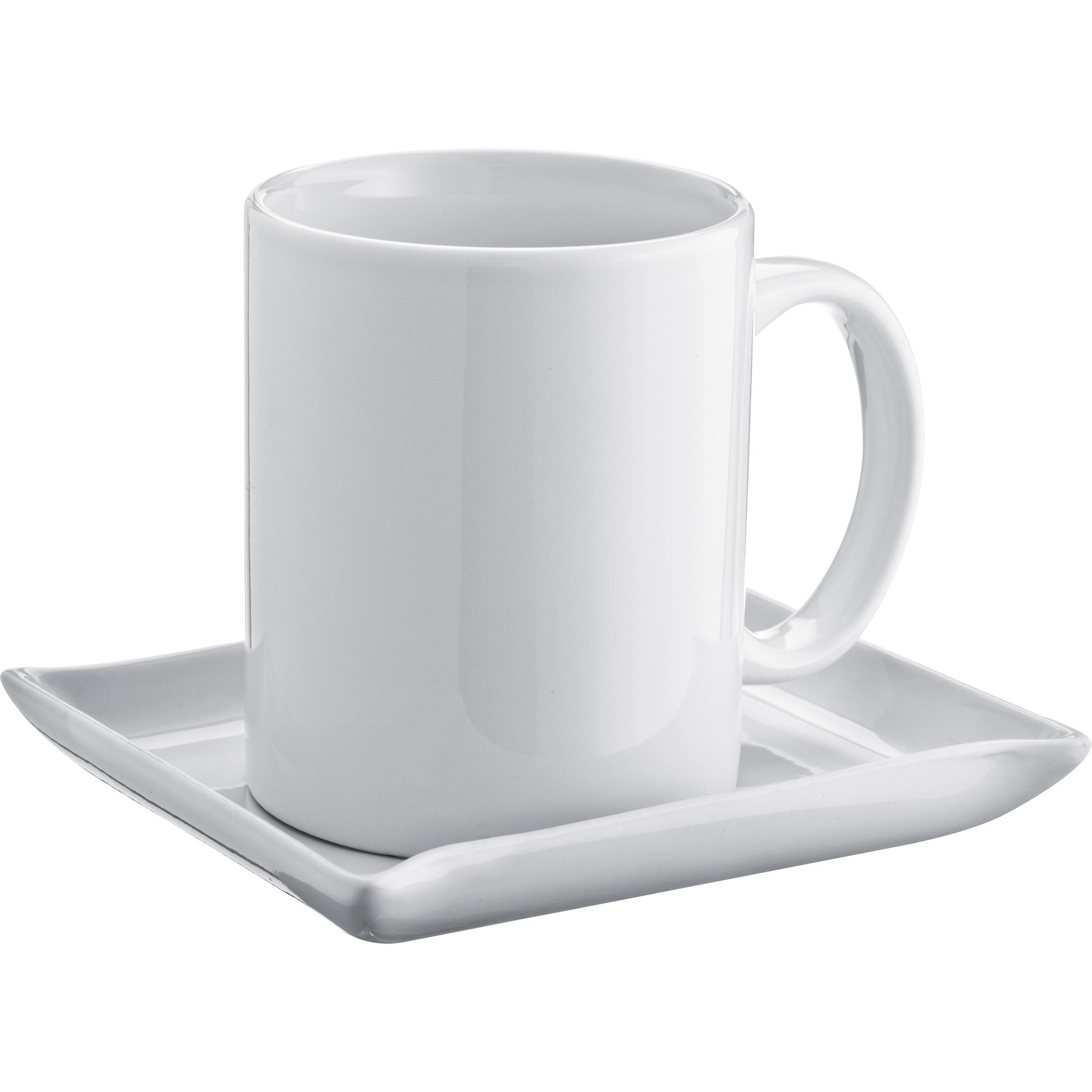 Set aus Kaffeetasse mit Unterteller, 300 ml