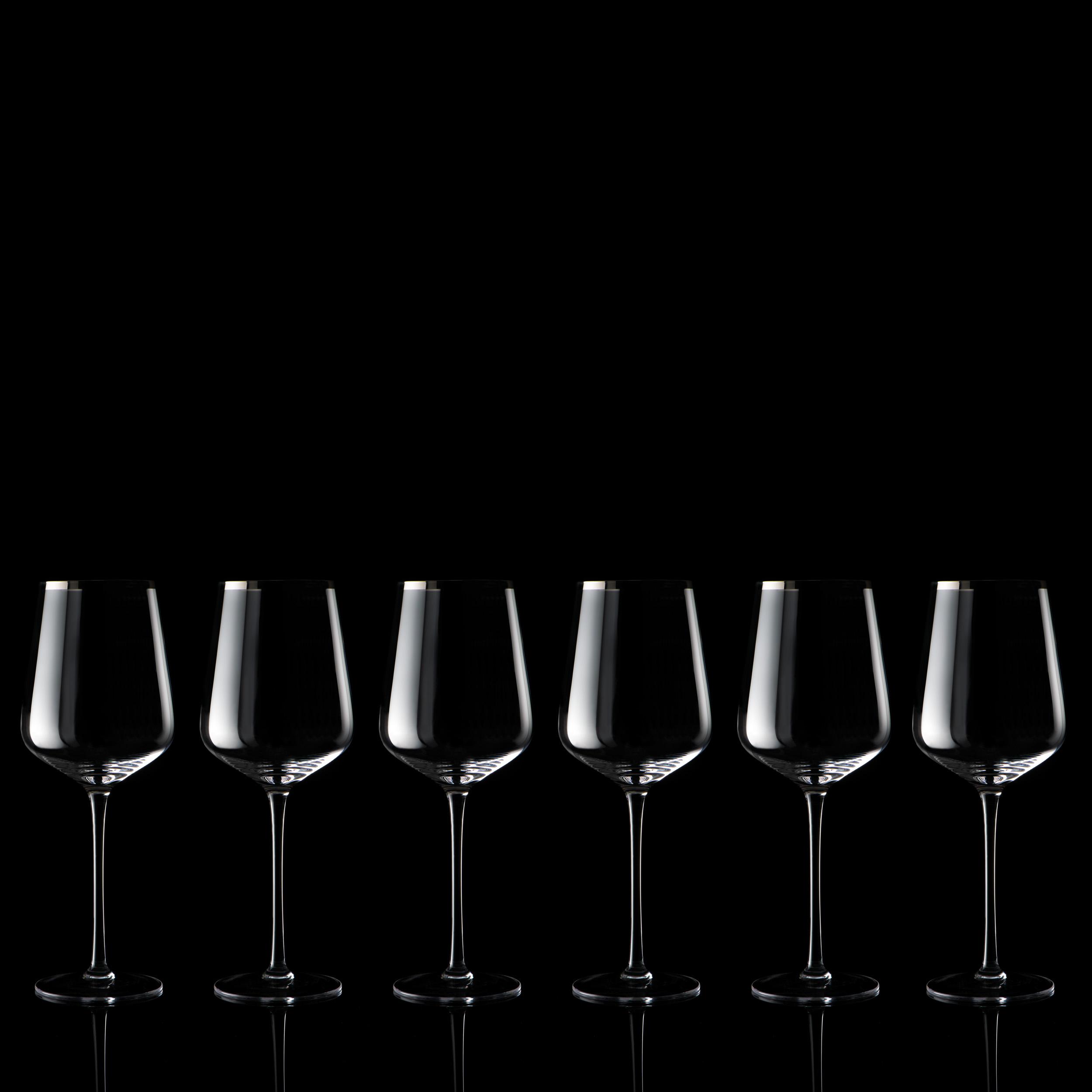 Set aus 6 Rotweingläsern