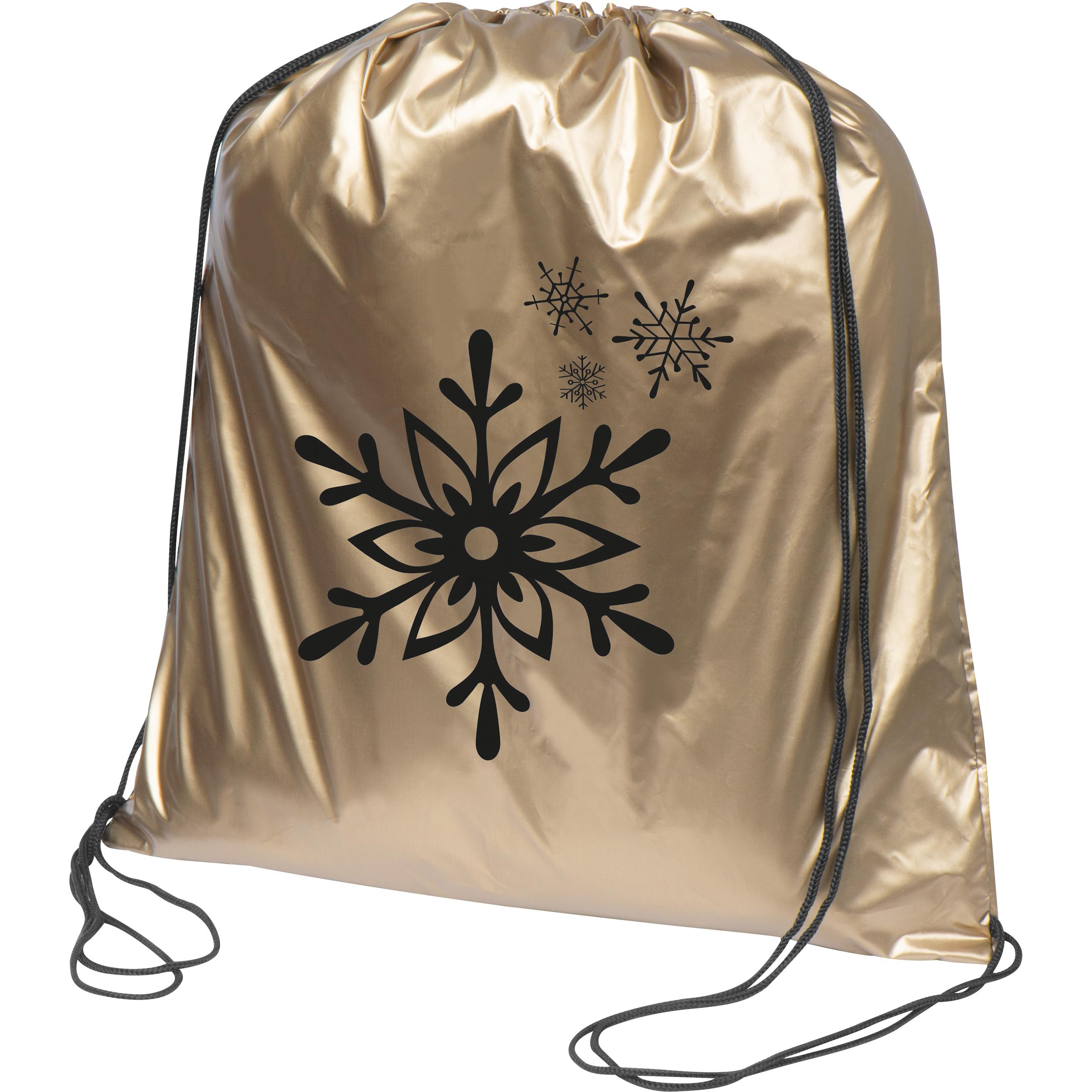 Gymbag aus Polyester in metallic Farben