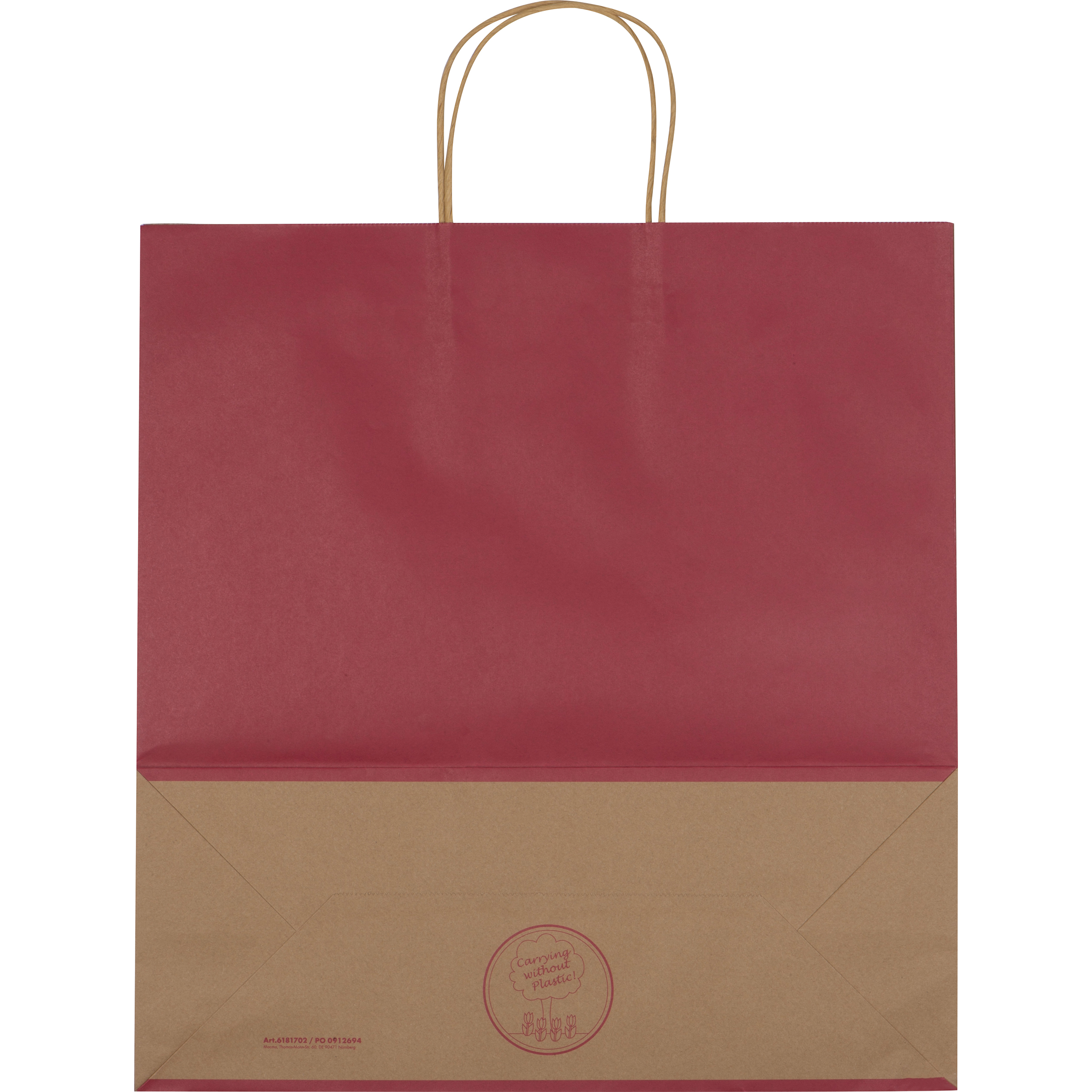 Big recycled paperbag with 2 handles