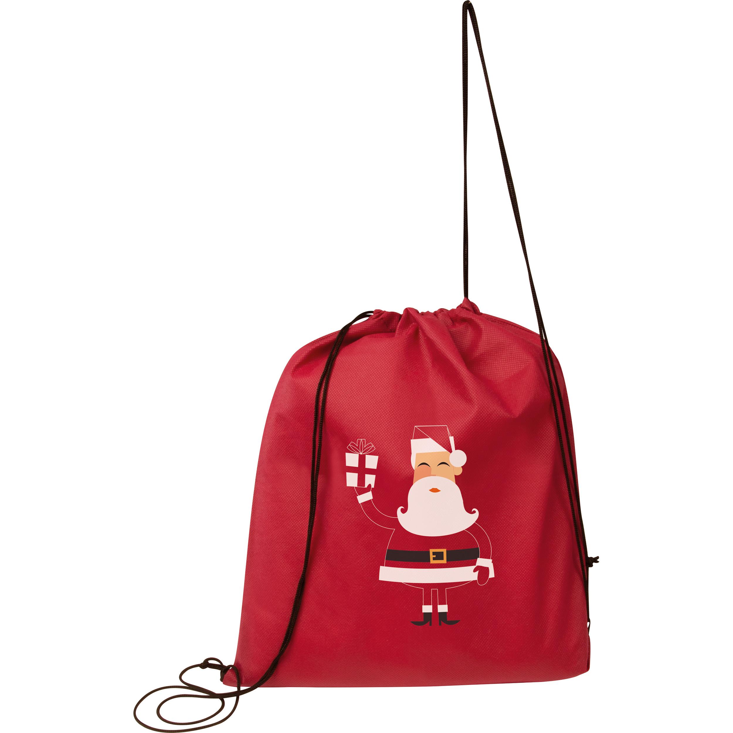 Gymbag aus Non-Woven mit Weihnachtsmotiv