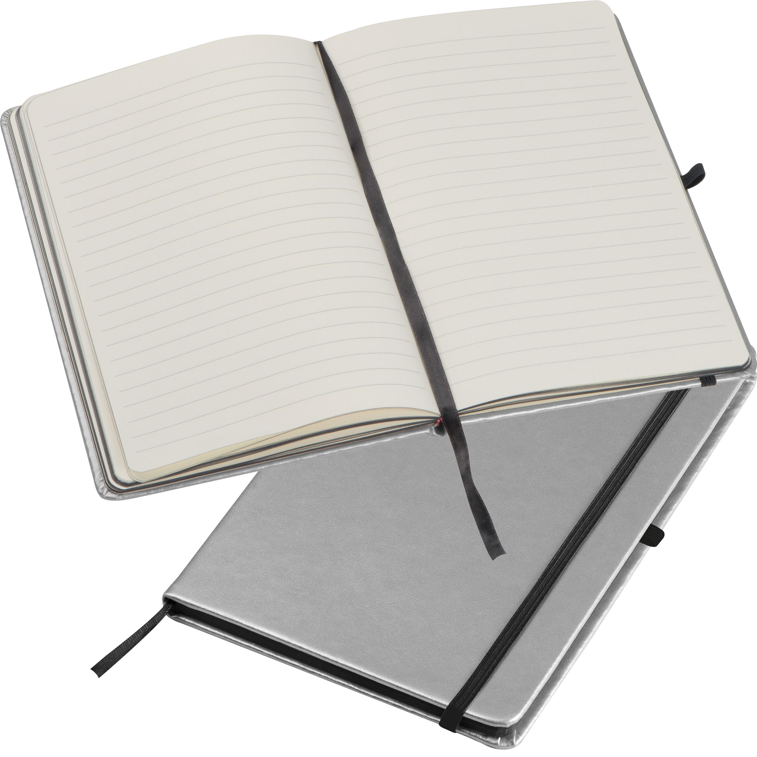 A5 Notizbuch in metallic Farben